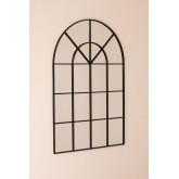 Metal Window Effect Wall Mirror Paola  (135x92 cm) , thumbnail image 2