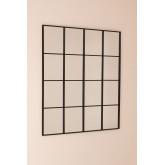 Wall Mirror in Metal Window Effect (122x122 cm) Sofi, thumbnail image 2