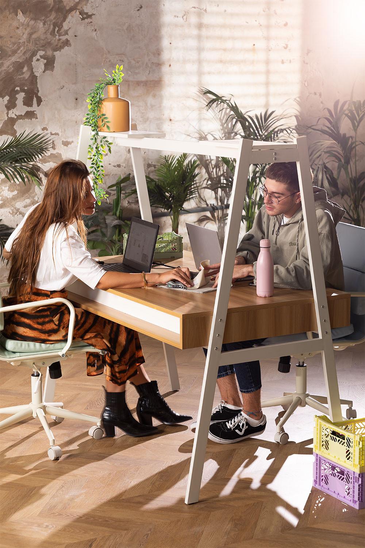 Desk in Steel & Melamine Bhan, gallery image 1