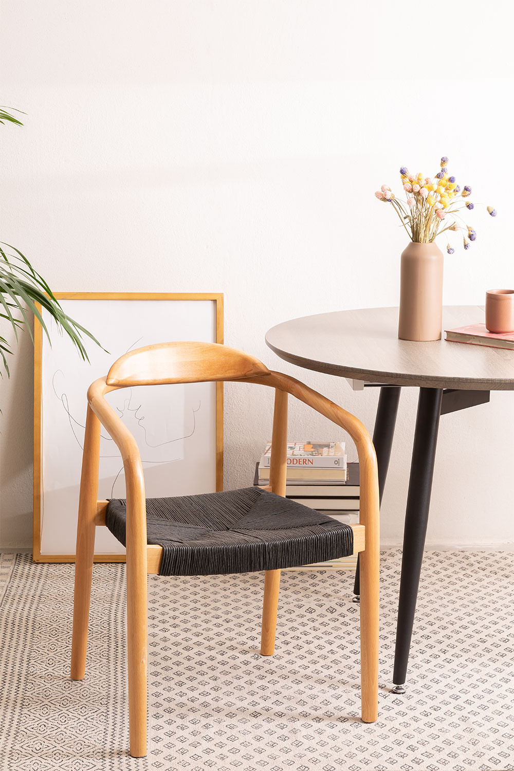 Yeff Paper Rope Dining Chair, gallery image 1