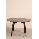 Horus Wood & Stainless Steel Extensible Dining Table (120 cm - 180 cm) , thumbnail image 776166