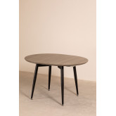 Horus Wood & Stainless Steel Extensible Dining Table (120 cm - 180 cm) , thumbnail image 776191