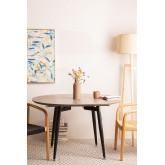 Horus Wood & Stainless Steel Extensible Dining Table (120 cm - 180 cm) , thumbnail image 776201