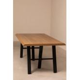 Edeni Stainless steel & Wooden Rectangular Dining Table 200cm, thumbnail image 777277