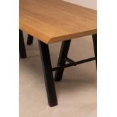Edeni Stainless steel & Wooden Rectangular Dining Table 200cm, thumbnail image 777282