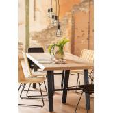 Edeni Stainless steel & Wooden Rectangular Dining Table 200cm, thumbnail image 777300