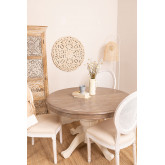 Round Extendable Round Dining Table (120-180x84 cm) Hektra , thumbnail image 1