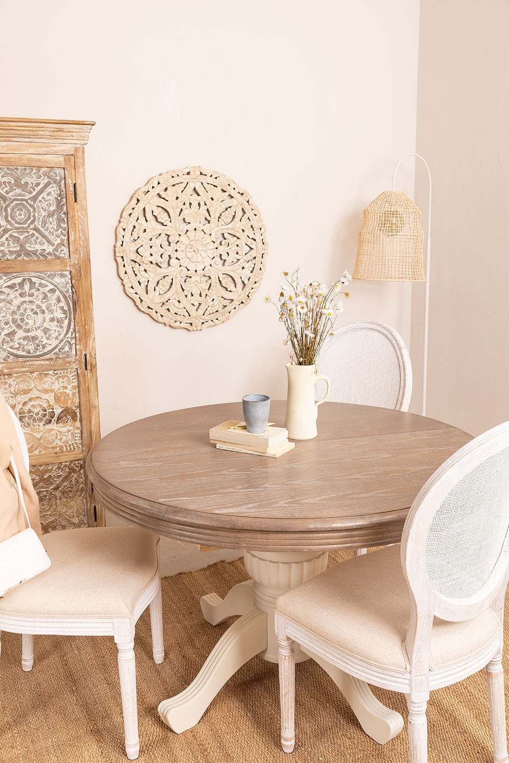 Round Extendable Round Dining Table (120-180x84 cm) Hektra , gallery image 1