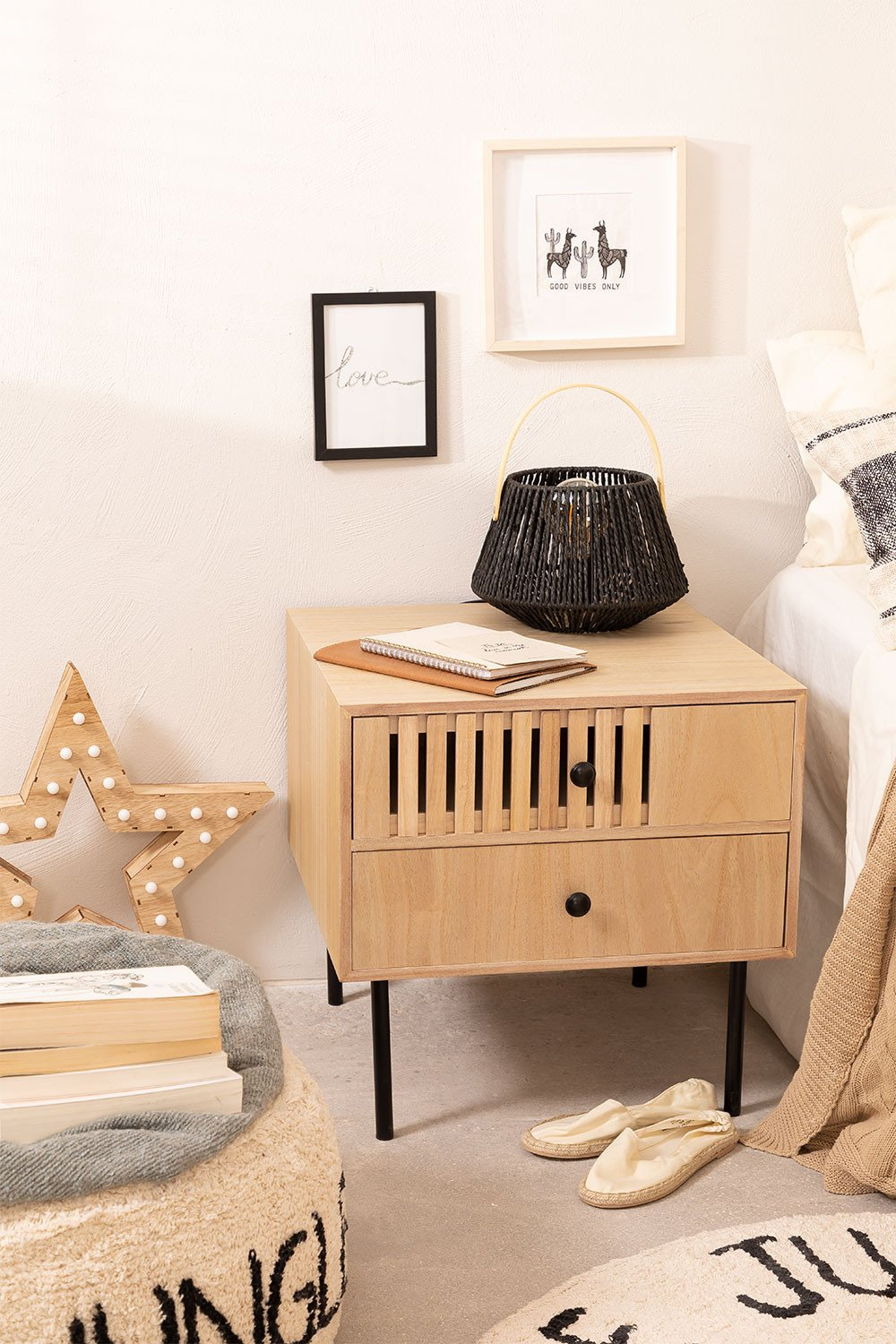 Bedside table in MDF Cialu, gallery image 1