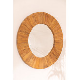 Round Wall Mirror in Recycled Wood (Ø100 cm) Rand, thumbnail image 2