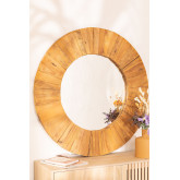 Round Wall Mirror in Recycled Wood (Ø100 cm) Rand, thumbnail image 1