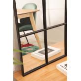 Metal Window Effect Wall Mirror Paola  (135x92 cm) , thumbnail image 5