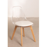 Transparent Nordic Dining Chair, thumbnail image 2