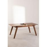 Extendable Walnut Dining Table (150-180x90 cm) Aliz, thumbnail image 5