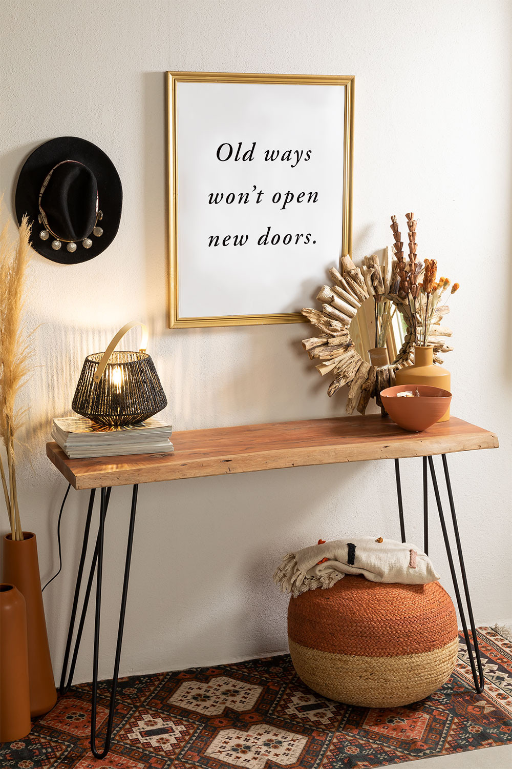 Recycled Wood Console Pek , gallery image 1