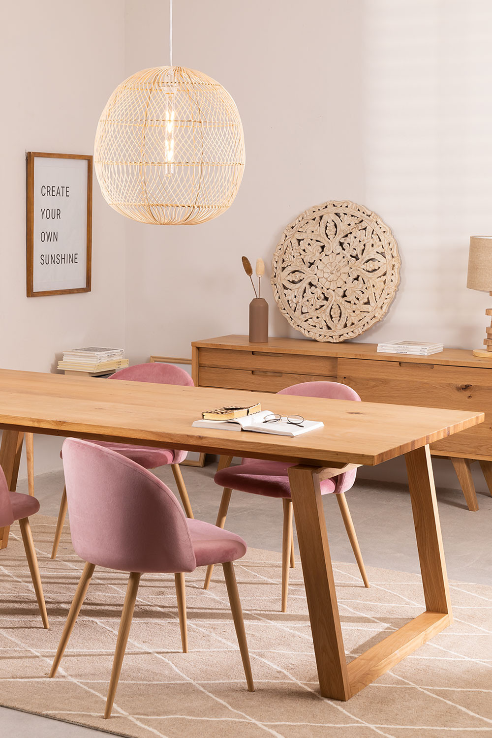 Rectangular Wooden Dining Table (220x95 cm) Neros, gallery image 784687