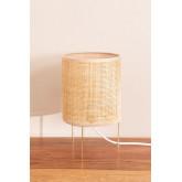 Table Lamp in Rattan and Metal Muit, thumbnail image 2