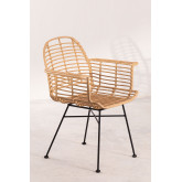 Dining Chair in Synthetic Rattan Mimbar Style, thumbnail image 2