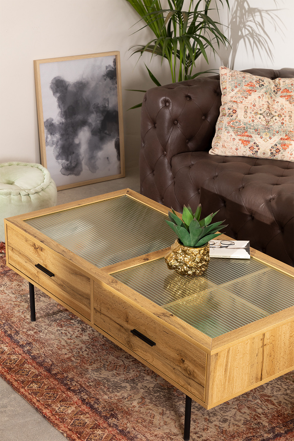Coffee Table in MDF and Ipek Glass, gallery image 1