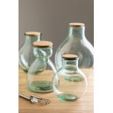 Madox Clear Recycled Glass Jar, thumbnail image 1