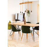 Rectangular Dining Table in MDF (190x90 cm) Allex, thumbnail image 792034