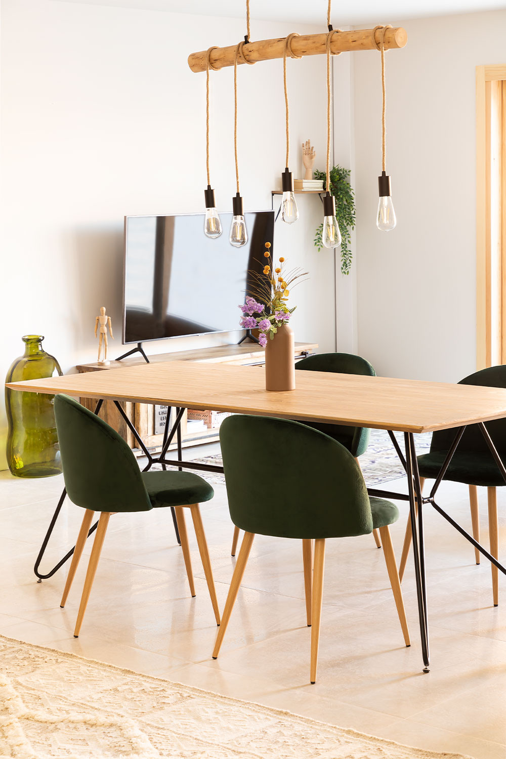 Rectangular Dining Table in MDF (190x90 cm) Allex, gallery image 792034