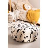 Round Cotton  Letters  Pouffe , thumbnail image 1