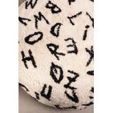 Round Cotton  Letters  Pouffe , thumbnail image 4