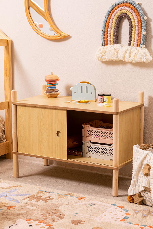 Kid´s Cabinet with 2 Sliding Wooden Doors Tulia , gallery image 1