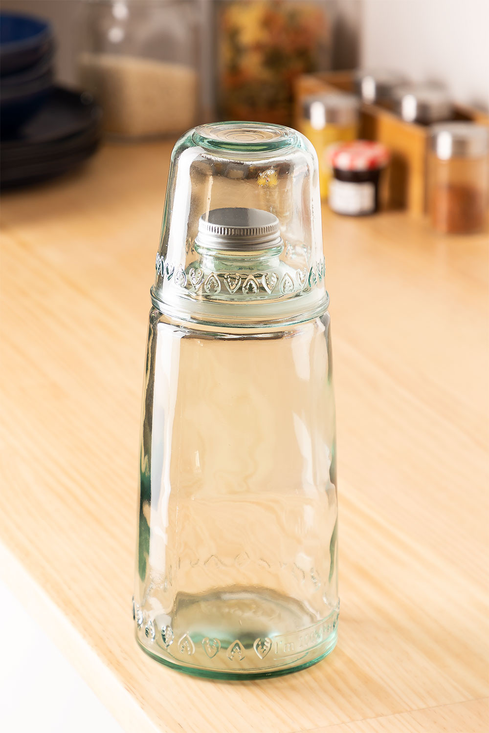 1L Bottle with Gad Recycled Glass Cup, gallery image 1