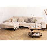 4 seater Chenilla Chaise Longue Sofa Agon , thumbnail image 1