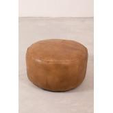 Round Leather Pouffe Tatta , thumbnail image 2