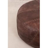 Round Leather Pouffe Mael , thumbnail image 3