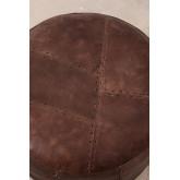 Round Leather Pouffe Mael , thumbnail image 4