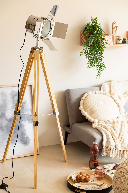 Cinne Metallic Dimmable Tripod Floor Lamp, gallery image 1