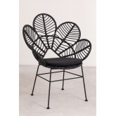 Synthetic Wicker Armchair Rinum , thumbnail image 2