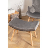 Velvet Upholstered Footstool Morris Edition, thumbnail image 1