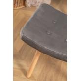Velvet Upholstered Footstool Morris Edition, thumbnail image 4