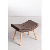 Velvet Upholstered Footstool Morris Edition, thumbnail image 2