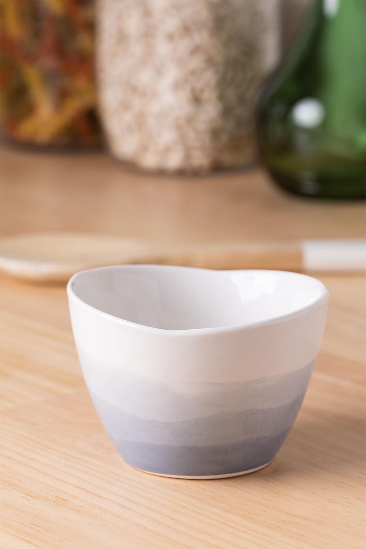 Pack of 4 Bowls in Porcelain Sea Ø9 cm, gallery image 1