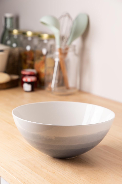 Porcelain Salad Bowl Ø22 cm Sea, gallery image 1