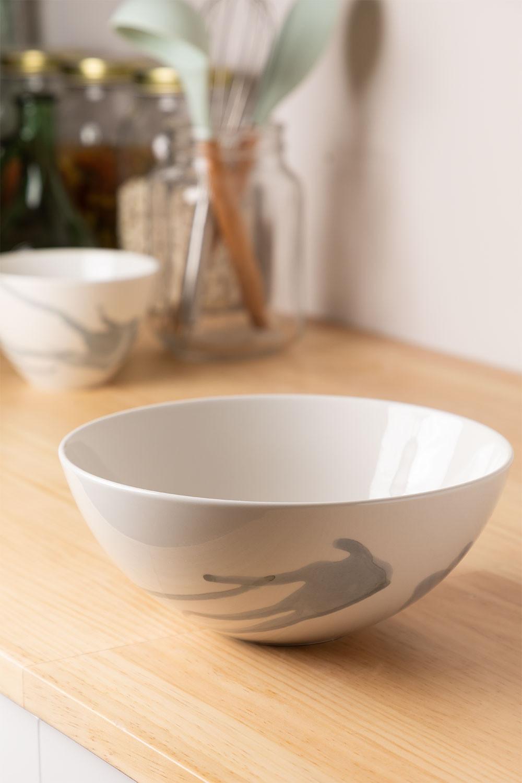 Porcelain Salad Bowl Ø22 cm Boira, gallery image 1
