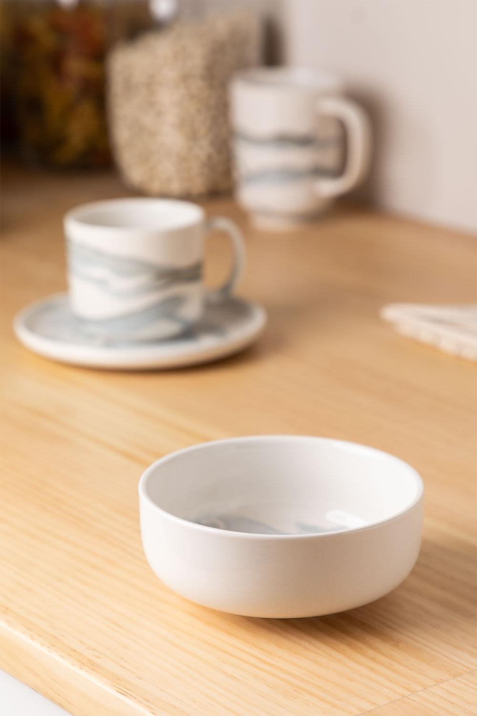 Pack of 4 Bowls in Porcelain Ø12 cm Boira, gallery image 1