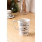 Pack of 4 Porcelain Mugs 320 ml Boira, thumbnail image 1