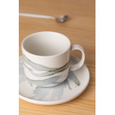 Set 4 Coffee Cups with plate in Porcelain Boira, thumbnail image 2