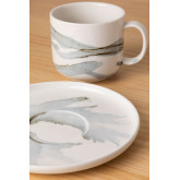 Set 4 Coffee Cups with plate in Porcelain Boira, thumbnail image 3