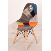 Upholstered Patchwork Scand SK Dining Chair, thumbnail image 808414