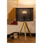 Rattan & Metal Table Lamp Megal , thumbnail image 1