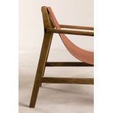 Leatherette and Wooden Armchair Harris, thumbnail image 3