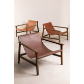 Leatherette and Wooden Armchair Harris, thumbnail image 5